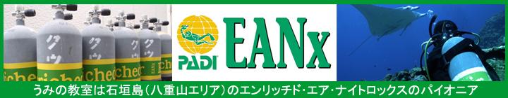 石垣島はエンリッチド・エア・ナイトロックスで安全ダイビング
