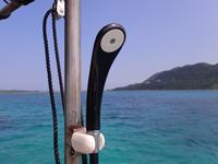 ダイビングボート5のシャワー