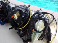 ダイビングボート5のタンクホルダー