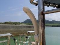 ダイビングボートwingのシャワー