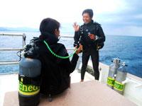エンリッチドエアナイトロックスSP講習ボート