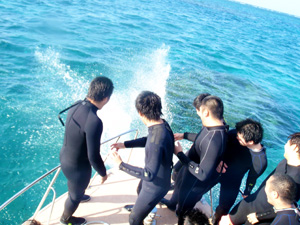 卒業(学生)旅行で体験ダイビング2