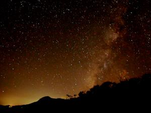 ナイトダイビング後の星空