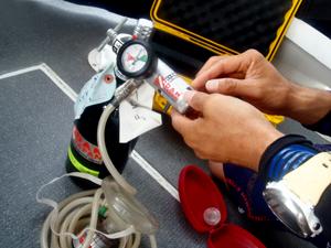 PADIレスキュー酸素トレーニング