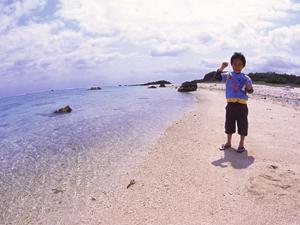 石垣島北部のビーチ