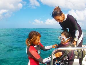 うみの教室の体験ダイビング