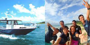 充実のダイビング船とショップ