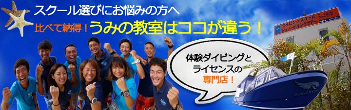 石垣島体験ダイビングとライセンススクール専門店のご案内バナー