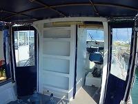 ダイビングボートⅢの屋根