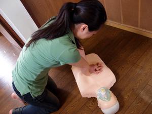CPRトレーニングの様子