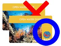 ダイビングライセンスカード