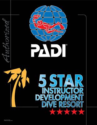 PADI 5スターダイブリゾートのロゴ
