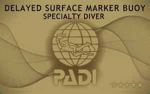 PADIディレイドサーフェスマーカーブイ(DSMB)SPカード