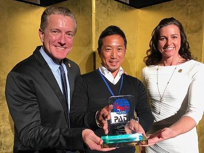 PADIカスタマーサポート賞2016の授賞式の様子