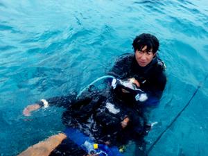 PADIレスキューダイバー海洋講習の様子