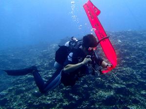 PADIディレイドサーフェスマーカーブイ(DSMB)SP海洋講習の風景