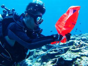 PADIサーチ&リカバリー(SRD)SP海洋講習の風景