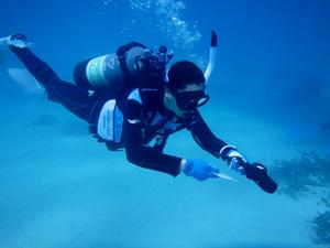 PADIアドバンス(AOW)必須科目水中ナビゲーションの講習風景
