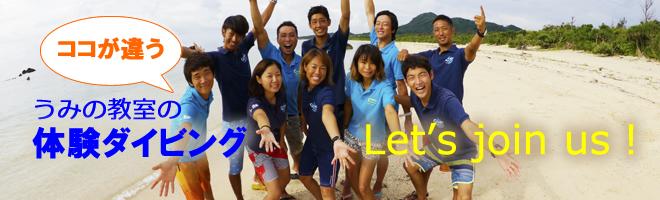 石垣島での体験ダイビングをお誘いするバナー
